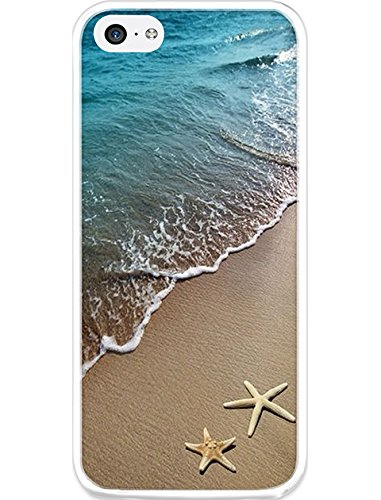Protective Case Cover for iPhone 5c Beautiful Beach Scene