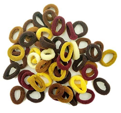 cuhair 100 Pièces Liens de Cheveux Élastiques Mini Chouchous Bandes de Caoutchouc Minuscules Coloré Filles Porte-Queue de Cheval pour Bébé Enfants (1#)