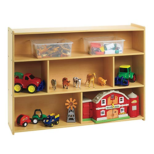 """Angeles Value Line 3-Shelf Storage – 48"""" by 12' by 36"""" – Perfect for Books, Puzzles, General Supplies – Lower Height Ideal for Young Children to Access Contents – Easy to Assemble and Clean"""