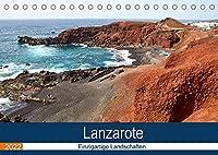 Lanzarote - Einzigartige Landschaften (Tischkalender 2022 DIN A5 quer): Von Vulkanen gepraegt (Monatskalender, 14 Seiten )