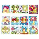 SM SunniMix Enchufe Juguetes Juguetes para Niños Juguetes de Mosaico Juegos de Bloques de Construcción Coloridos Regalos de Juegos para Niños