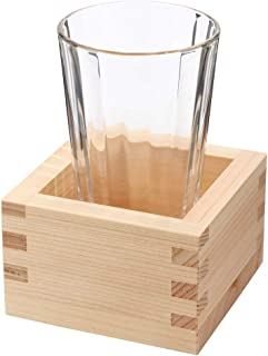 自宅で日本酒を楽しむ『枡酒』セット220ml冷酒グラス150ml+八勺枡Masu and Glass Sake set