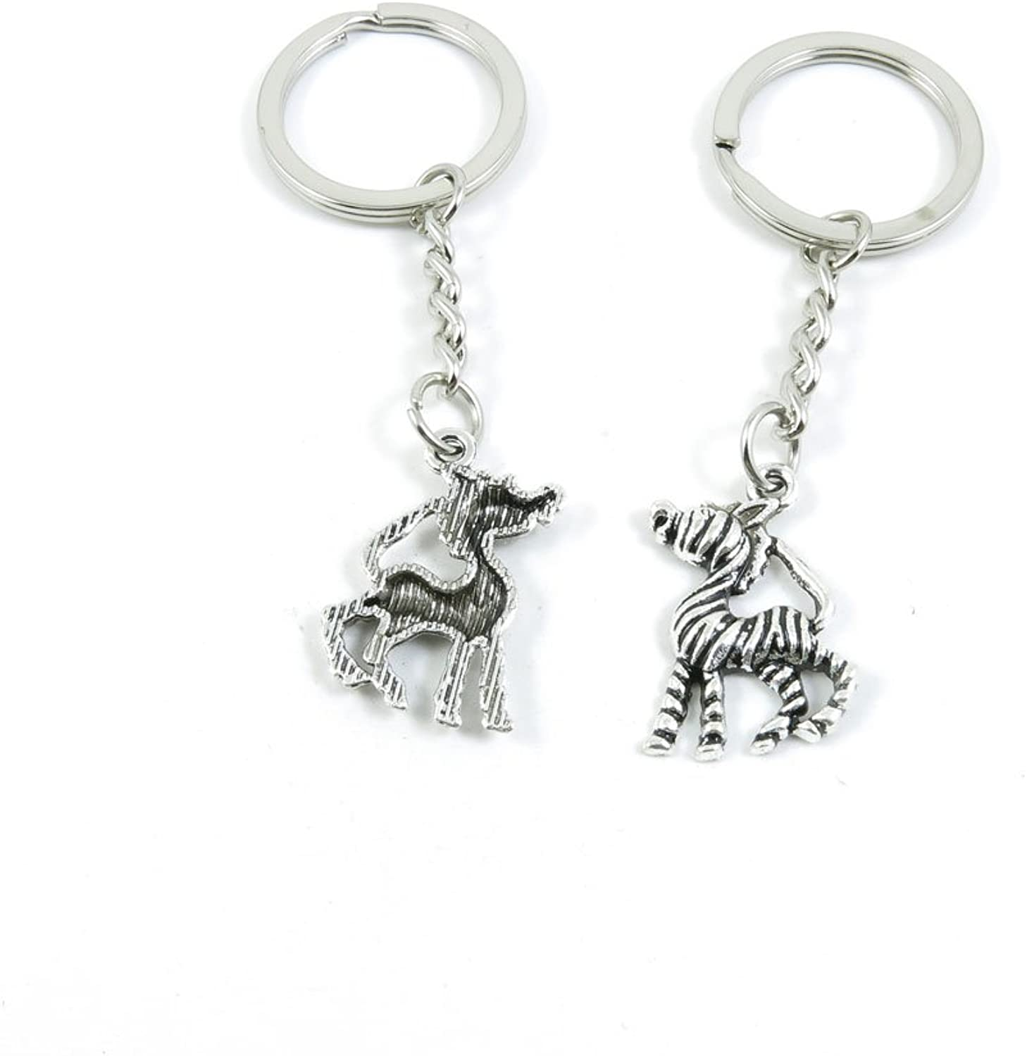 180 Pieces Fashion Jewelry Keyring Keychain Door Car Key Tag Ring Chain Supplier Supply Wholesale Bulk Lots T3IQ5 Zebra Horse