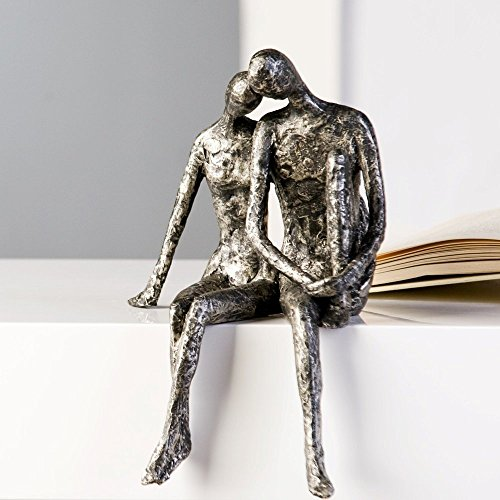 Casablanca Design Sculpture couple assis aspect argent...