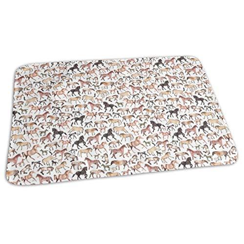 Paarden Running Bed Pad Wasbaar Waterdichte Urine Pads voor Baby Peuter Kinderen en Volwassenen 27.5 x19.7 inch