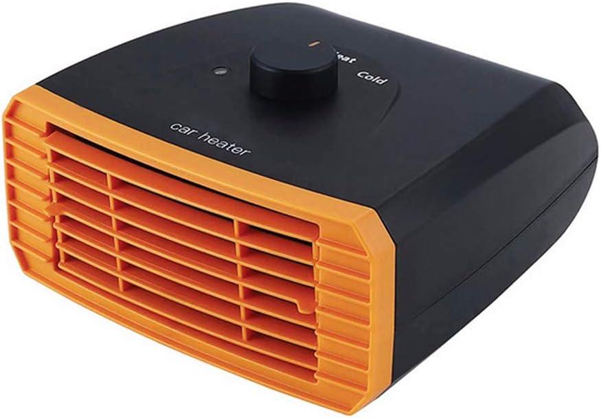 12V/24V Ventilador de calefacción auto del coche portátil,Ventilador Calefactor Desempañador 2 en 1 Calefactor de Aire Caliente Coche,Conectar a Encendedor de Cigarrillos