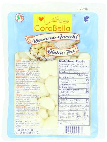 Corabella Gluten Free Gnocchi, Potato and Rice, 1.1 Pound (Pack of 10)