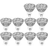 AGOTD Lampadine LED Spot GU4 MR11 LED 12V AC/DC 3W,35mm Diametro,Lampada Alogena 35W Equivalente,Illuminazione MR11,80Ra,38 Ángulo,Bianco Freddo 6000k,Socket GU4,250LM,Set di 10