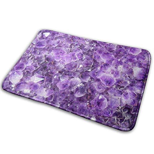 VTYOSQ Alfombra de baño Alfombras de baño de Piedra púrpura Alfombras de baño Antideslizantes Alfombras de baño absorbentes Suaves Alfombra
