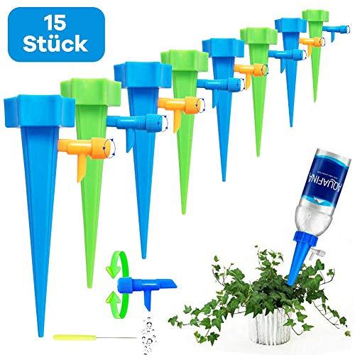 Netrox Wasserspender für Pflanzen | 15x automatisches Bewässerungssystem für Garten Pflanzen Blumen