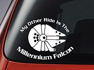 Star Wars 'My Other Ride Is The Millennium Falcon'   Vinyl Decal   Car, Window, Wall, Laptop Sticker by Level 33 Ltd