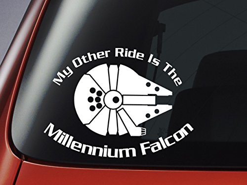 Star Wars \'My Other Ride Is The Millennium Falcon\' - Vinyl Decal - Car, Window, Wall, Laptop Sticker by Level 33 Ltd