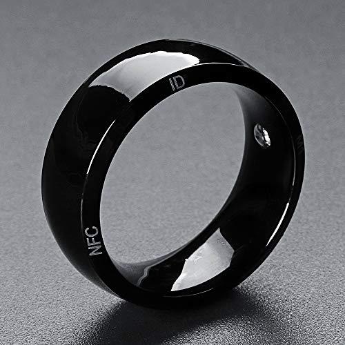 ZDY Neue Technologie magischer Finger NFC Ring entriegeln Gesundheitsschutz Smart-Ring Wear für Android Windows-NFC-Handy-Wasserdicht,12 Yards