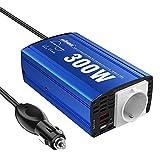 GIANDEL Inversor de Corriente 300W Onda Sinusoidal Pura Convertidor 12v a 220v 230v,Transformador con 2x2.4A Puertos de USB y Toma de AC para Coche, Portátil, Movíl