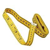 Cinta métrica lateral para el cuerpo, cinta métrica suave, doble cara, para coser a medida, 3 m, 120 pulgadas, color amarillo