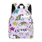 Mochila para adolescentes y niños, coloridos unicornios y gatos, mochila de ocio, mochila...