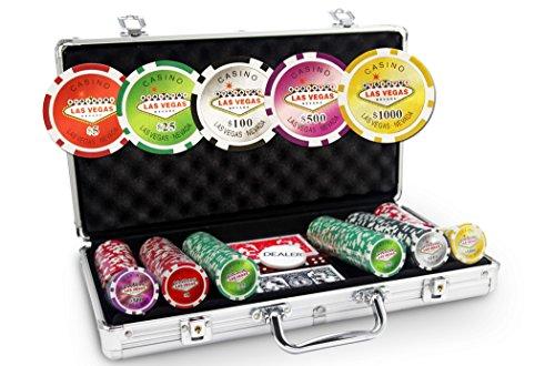 Laser Las Vegas-Valigetta da Poker con 300 fiches