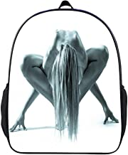SARA NELL Studio Shot Of Beautiful Naked Woman In Gym Pose School Backpack Book Bag For Boys Girls 3-6 Years Old