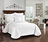 Historic Charleston Collection King Charles Matelasse Coverlet, Full/Queen, White