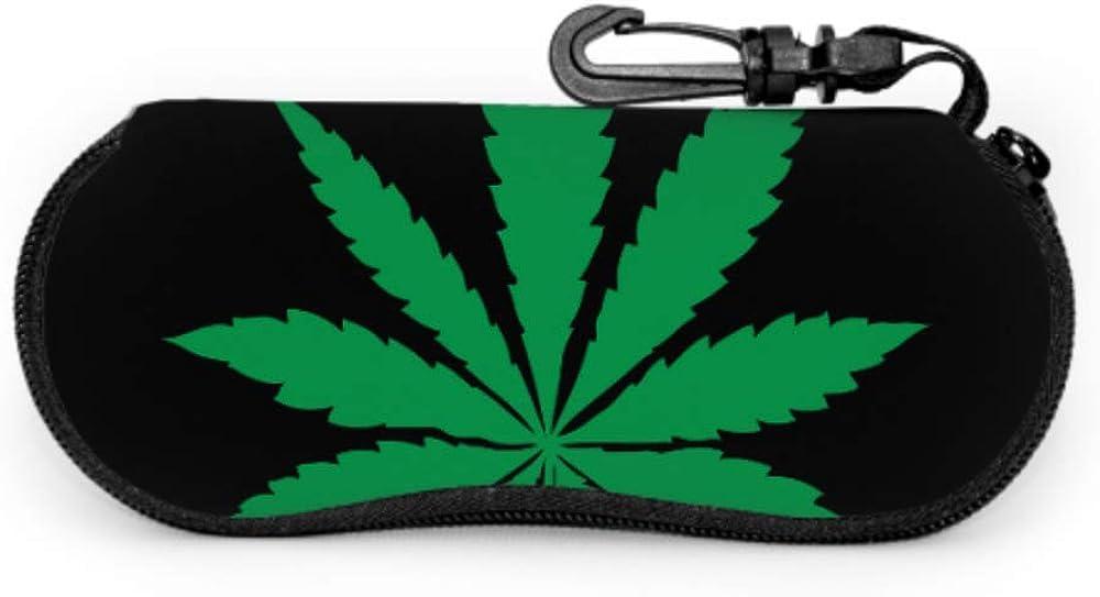 Marijuana Leaf Of Cannabis Cases For Eyeglasses Customized Eyeglass Case Light Portable Neoprene Zipper Soft Case Glasses Case Men