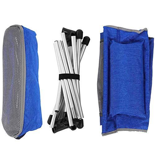 Camping StüHle Klappbar Tragbarer Outdoor-Klappstuhl mit Tragetasche Travel Chair Breathablem Bequem Fauler Stuhl Camping Bag StüHle füR Outdoor, Camping, Wandern und Reisen, Blau