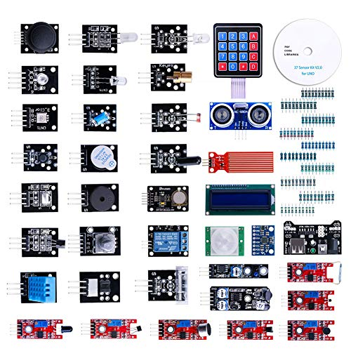 Modul Sensor Kit Projekt Starter Kit Elektronische Komponenten Set Basic Starter Kit Kompatibel mit UNO R3 37pcs