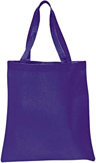 Q-Tees Q0800 Canvas Promotional Tote Bag-Purple-ONE