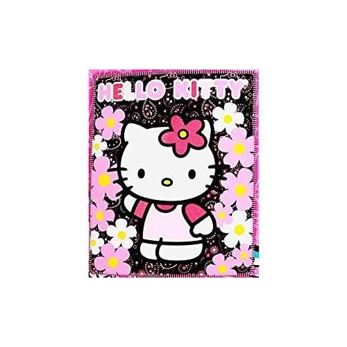 9ba2bd5398 Blanket - Hello Kitty - Black Sunflwers New 50x60 Fleece Throw 70331 by Hello  Kitty
