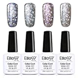 Elite99 4pcs Starry Gel Nail Polish Set Off UV Led Nail Varnish Nail Lacquers Nail Art Manicure Pedicure 10ML