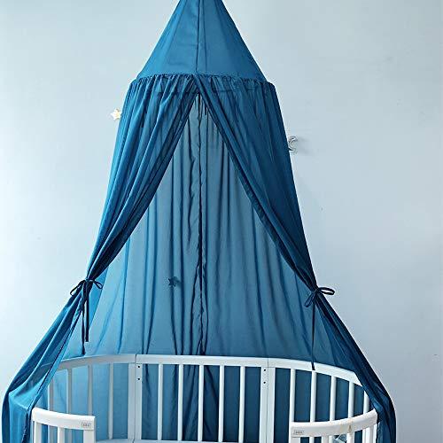 Haihui Dosel de cama para niños, de algodón, con adornos de pompón, decoración de habitación de los niños, tienda de campaña, accesorios de fotografía