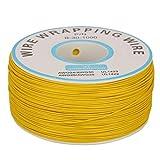 Cable eléctrico, 1 rollo de alambre enrollado con un solo hilo de cobre, cable de 30 AWG, diámetro del núcleo de 0,25 mm, mejor resistencia al calor(amarillo)