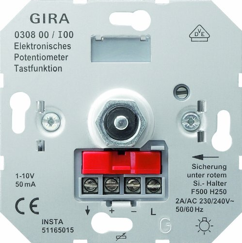Gira 030800 Potentiometer 1 Tasterfunktion 10 V Einsatz