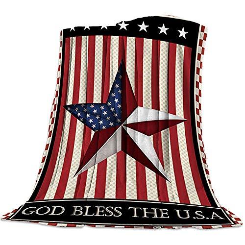 Nazi Mie Decke, Independence Day DOD Bless Die leichte Decke aus weicher, kuscheliger Flanell-Mikrofaser von USA