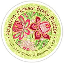 Greenwich Bay Trading Company Botanic Body Butter with Shea Butter and Cocoa Butter 8oz Tub (Passion Flower)