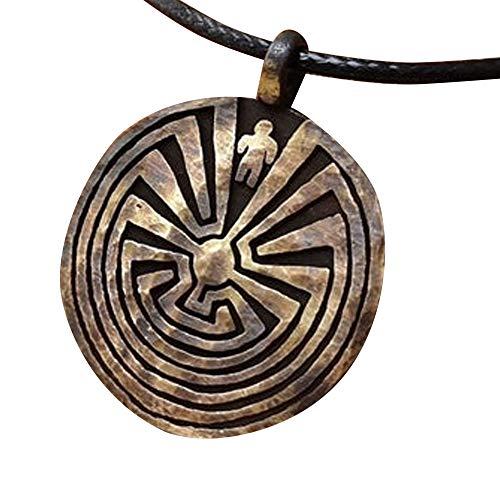Litoi Maze Labyrinth Mystery Necklace Pendant Jewelry