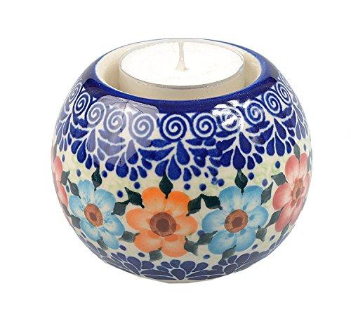 BCV Classic Boleslawiec polacca, ceramica dipinta a mano, Ball, Tea Lite Candle Holder 501-u-004