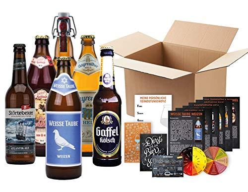 BIERE AUS DEUTSCHLAND (6 Biere) +Farbbierdeckel +Aromabierdeckel +Informationsblatt zu jedem Bier +Verkostungsunterlagen +Geschenkkarten // Verkosten wie ein Biersommelier