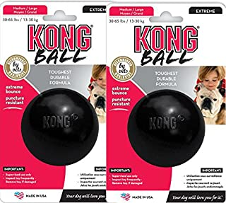 Kong EXTREME Rubber Ball Dog Fetch & Tough Chew Toy Medium/Large [2 PACK]