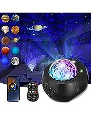Ster Projector Nachtlampje, SOLMORE Galaxy Projector Light Star Light Projector Galaxy Met Planeten Ingebouwde Bluetooth Speaker, Sterrenhemel Nachtprojector Met Muziekspeler Voor Kind Geschenken Kamer Home Decor