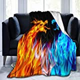 SARA NELL Cool Dragon Blanket,Fierce Battle Fire Dragon Lightweight Fuzzy Throw Blanket,3D Printed Unique Design Super Soft Arm Cozy Flannel Plush Throws Blankets for Kids Teens Adults 50 X 40 Inch
