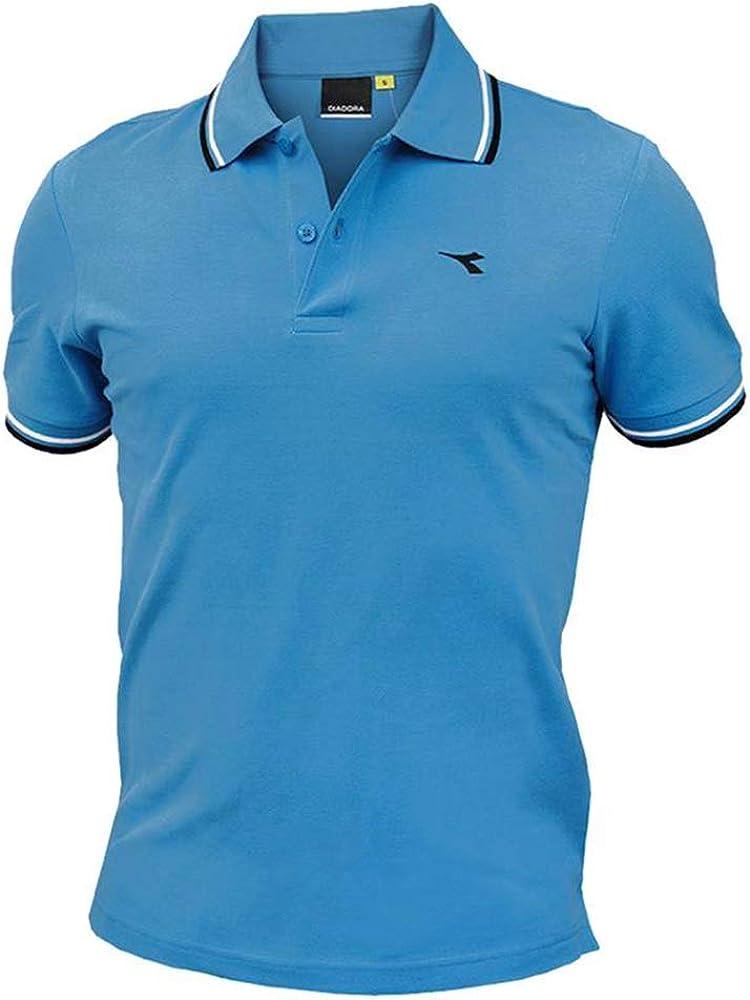 Diadora ss polo , maglietta maniche corte per uomo , 100% cotone 102.177175