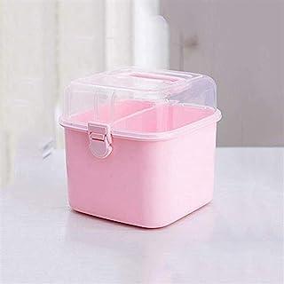 AINIYF Medicine Box Plastic Household Medicine Box Family Small Medicine Box Storage Box Portable First Aid Kit (Color : Pink)