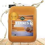 Martenbrown® Aceite de linaza incoloro en bidón de 3 l, aceite para madera 3 veces, para interior y exterior