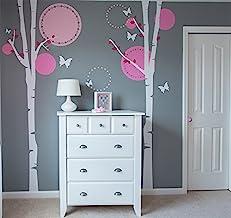 "Pop Decors ""Flying Butterflies/Birch Trees"" Nursery Wall Stickers for Kids Rooms"