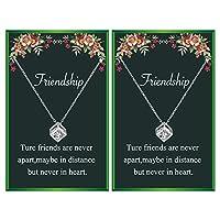 Your Always チャーム フレンドシップネックレス 2つの親友ネックレス 女性用 親友への誕生日ギフト 友人へのギフト 女性への友人へのギフト