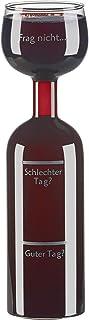 Rosenstein & Söhne Weinglas: 2in1-Weinflasche und X