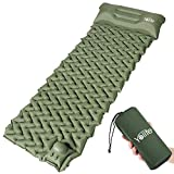 Yolife Portable Inflatable Sleeping Mat, Ultralight Camping Mat with a Pillow for Outdoor