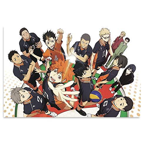 Interesting painting haikyuu wallpaper Anime Frameless Poster Print Canvas Art Printing Home Decoration (08x12inch(20x30cm))