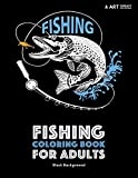 Fishing Coloring Book for Adults: Black Background: Stress Relieving Underwater Ocean Theme For Men And Women; Art Therapy Anti-Stress Designs And Patterns For Relaxation
