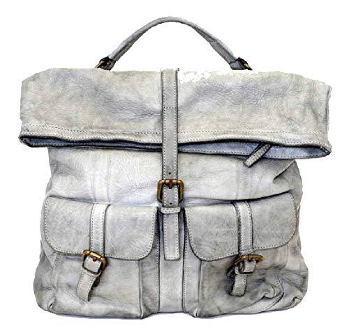BZNA Bag Yago grijze backpacker designer rugzak dameshandtas schoudertas leer nappa Italië nieuw